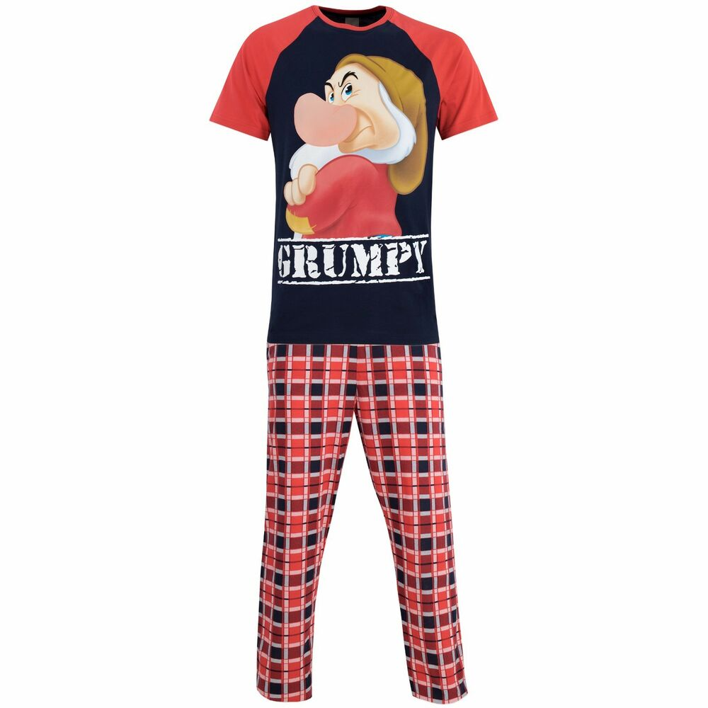 Disney Mickey Mouse Mens Adults Handcrafted Quality Short Sleeve Pjs Pyjama Set