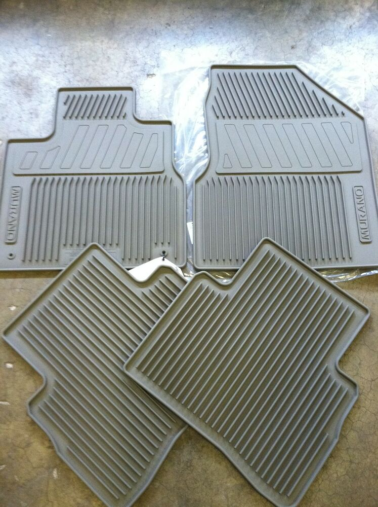 New Oem Beige Nissan Murano 2009 2014 All Weather Rubber