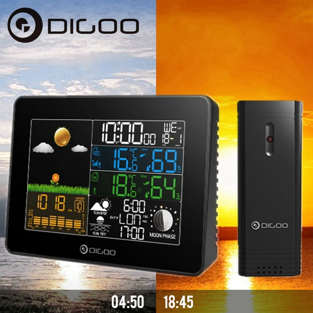digoo usb inalambrico estaci n meteorol gica humedad temperatura reloj sensor ebay. Black Bedroom Furniture Sets. Home Design Ideas
