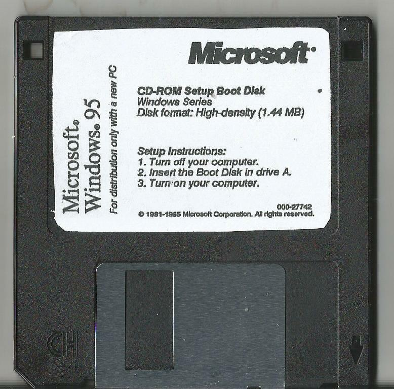 Windows 95 startup floppy
