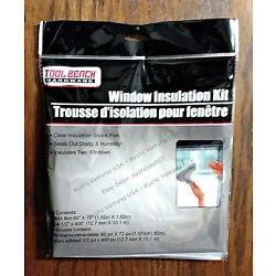 60''x72'' 2 Window 3' x 5' Indoor Clear Shrink Film Insulation Kit STOP COLD SAVE$