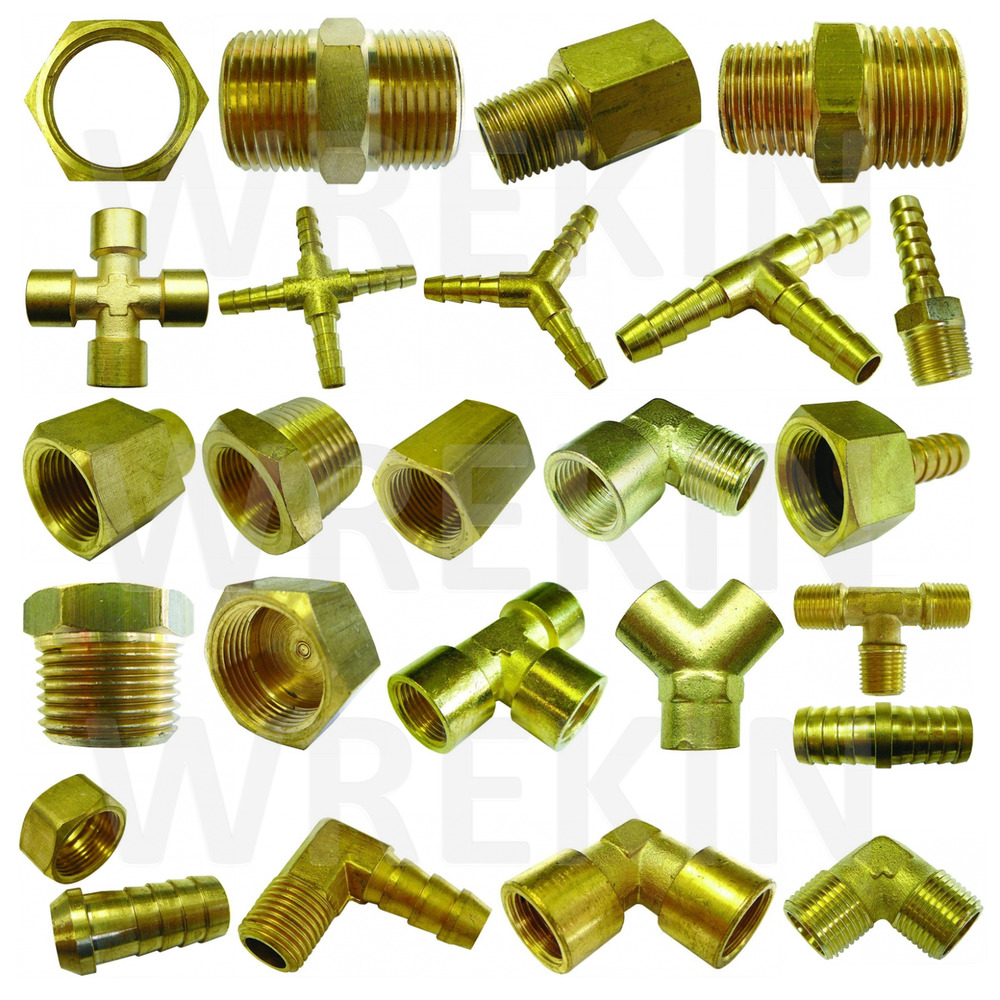 Bsp taper thread hose tail end connector brass fitting