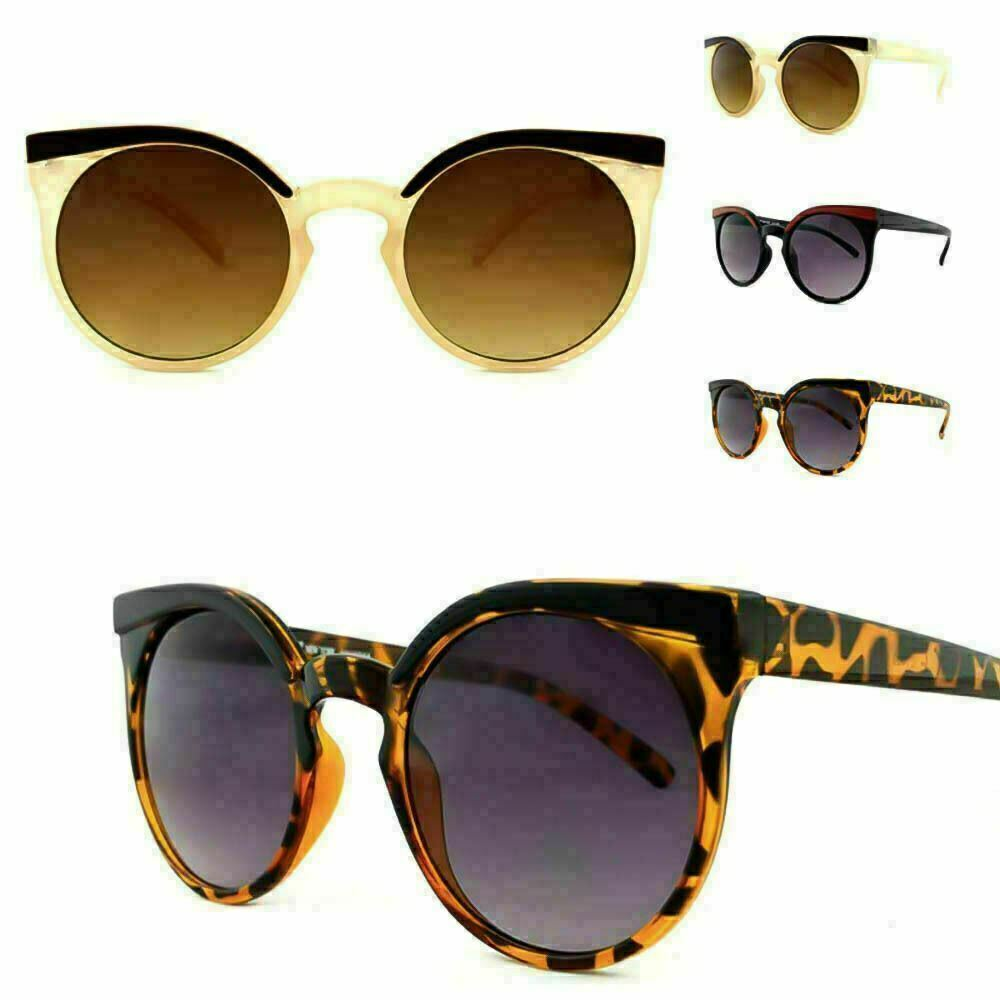 be63d25bd4f7 Details about Ladies HitchHiker NY Retro Round Lens Cat Eye VTG Rockabilly  Style Sunglasses