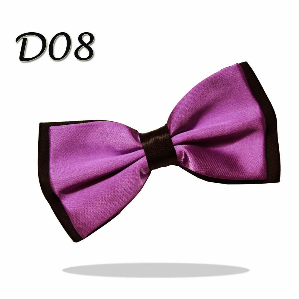 6f8330f56654 Details about Men's Pre-Tied Satin Bow Tie Adjustable up to 18