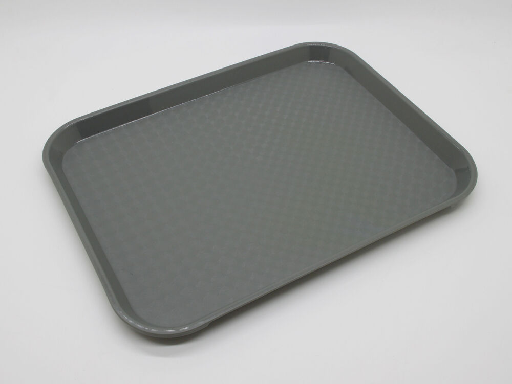 12PC Restaurant Serving Tray Fast Food Court Tray Plastic
