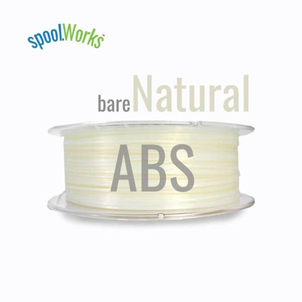 E3D SpoolWorks ABS Filamento Ø1.75 0.75kg Natural02 Plain - F-SW-ABS-NATURAL
