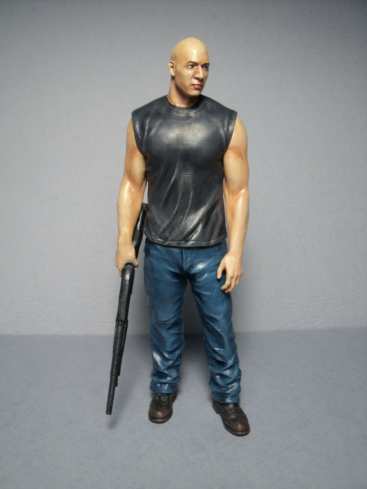1 18 fast and furious vin diesel figure painted by vroom. Black Bedroom Furniture Sets. Home Design Ideas