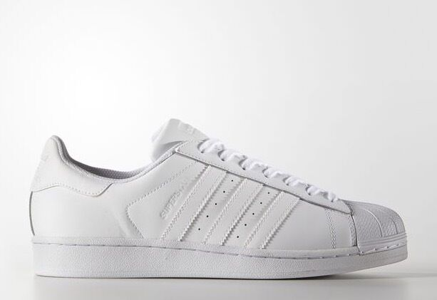 Adidas Superstar All Triple Running White B27136 Shell Toes Toe Size 8-13