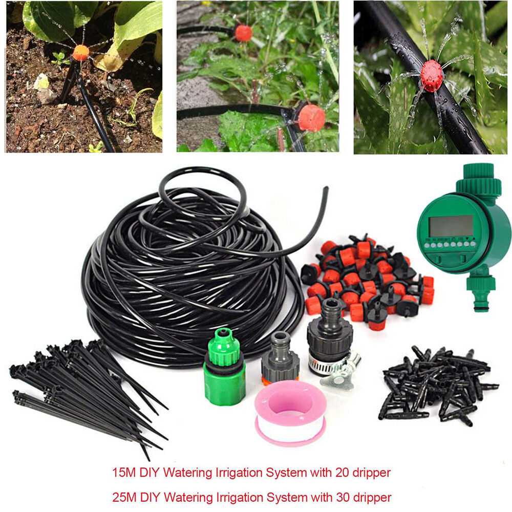Diy Water Irrigation Kit Timer Auto Micro Drip Watering