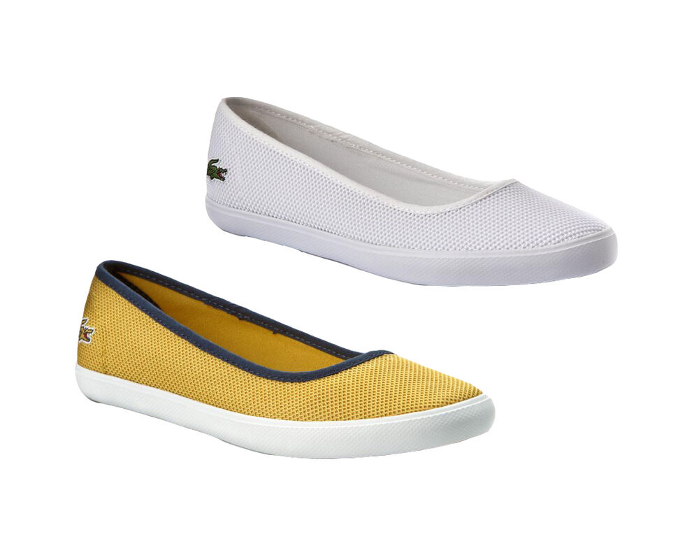 9cfcaa72a2a852 Details about Lacoste Womens Shoes Marthe Slip On Shoes Lacoste Flats NEW