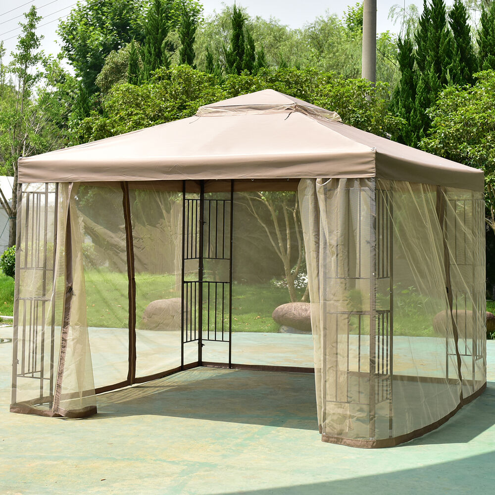 Outdoor 10'x10' Gazebo Canopy Shelter Awning Tent Patio ...