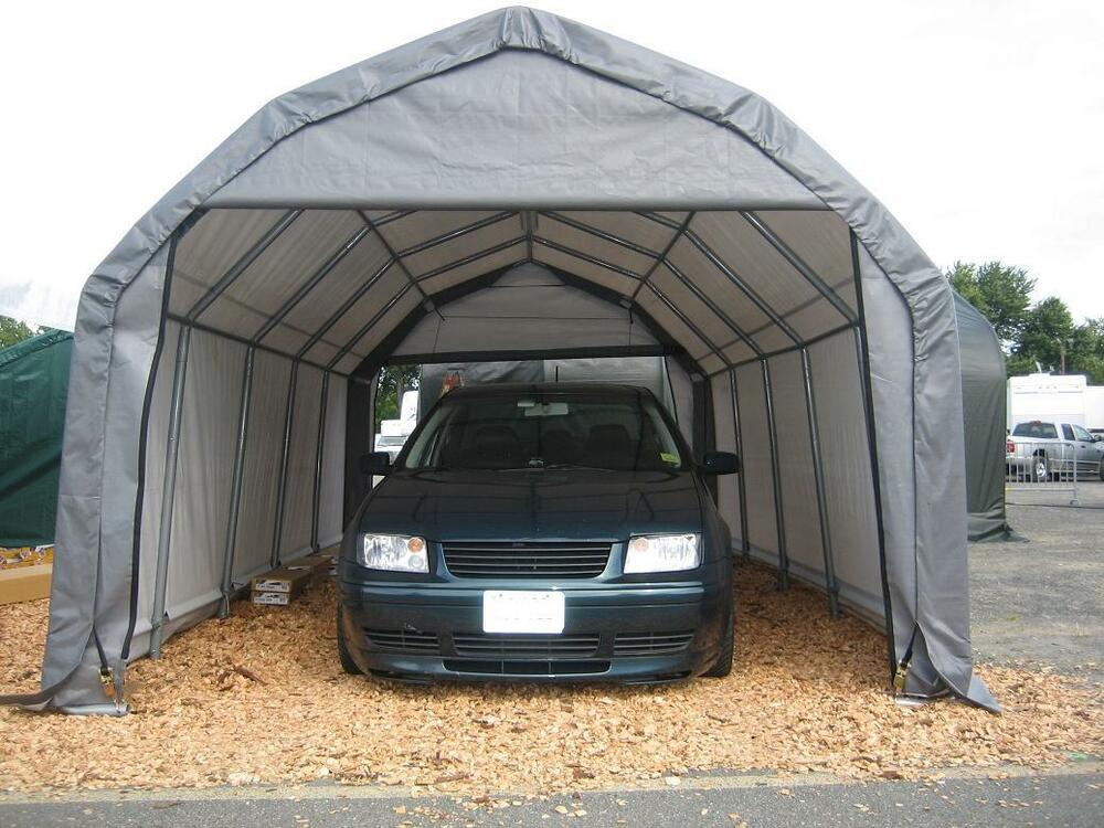 12x20x9 Barn ShelterLogic Shelter Portable Garage Carport ...