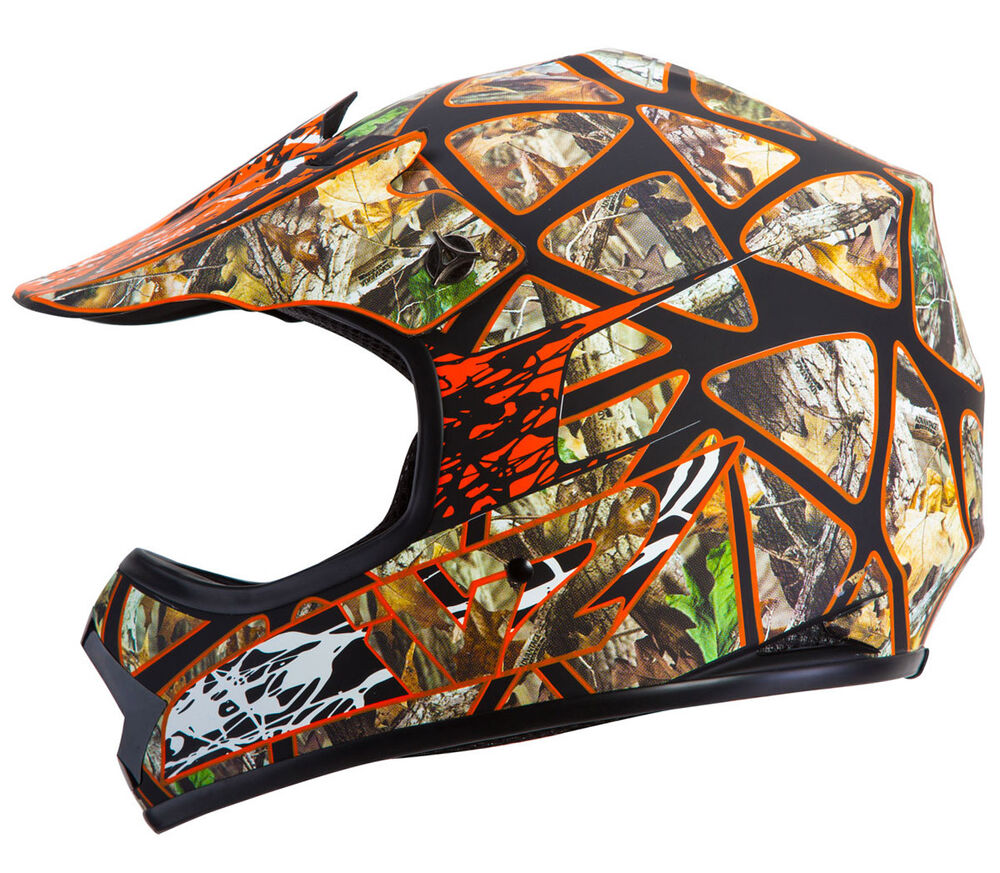 realtree camo safety orange youth motocross motorsport atv. Black Bedroom Furniture Sets. Home Design Ideas