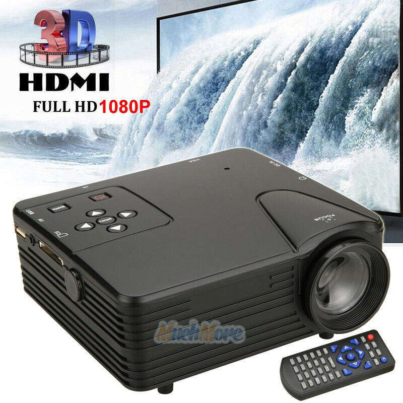 Hiperdeal Home Cinema Theater Multimedia Led Lcd Projector: New 1080P Full HD LED Projector Home Cinema Theater