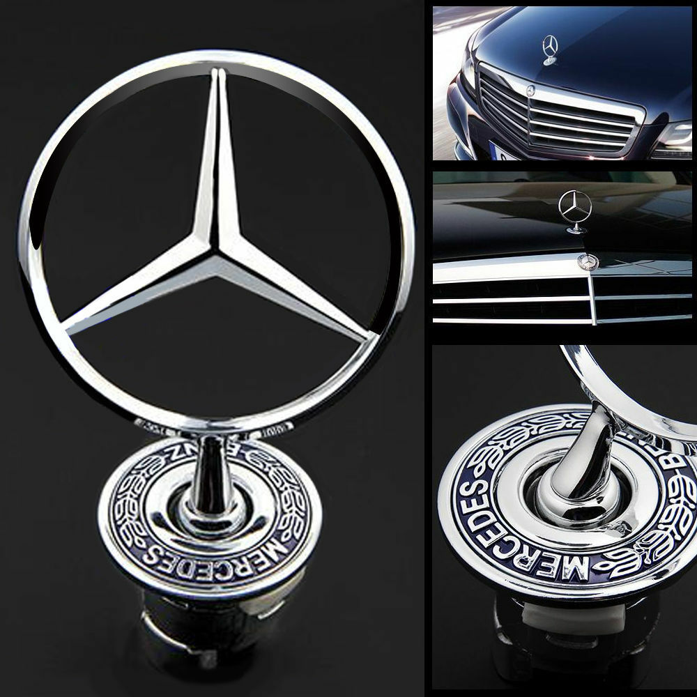 44mm mercedes benz badge w124 w202 w203 w208 w210 w211 for Mercedes benz bonnet badge