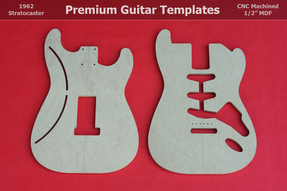 1960 u0026 39 s stratocaster guitar body router template set strat