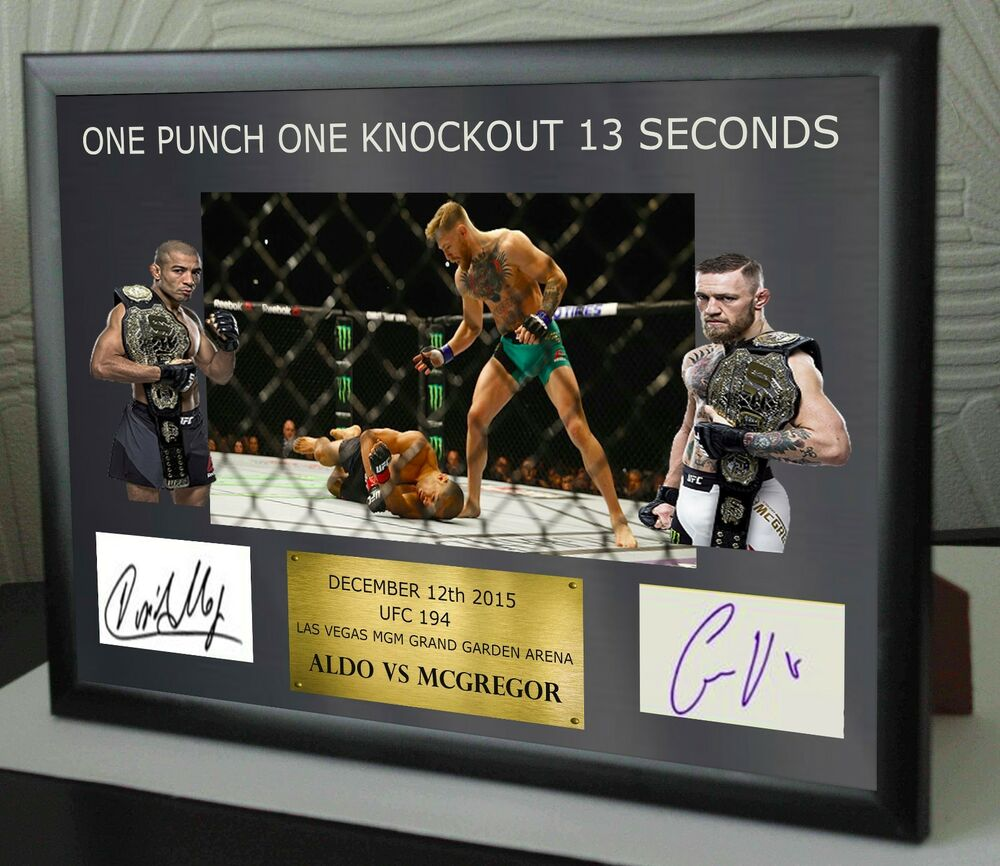3c5c87a7776 Details about Conor Mcgregor UFC canvas tribute signed Limited Edition
