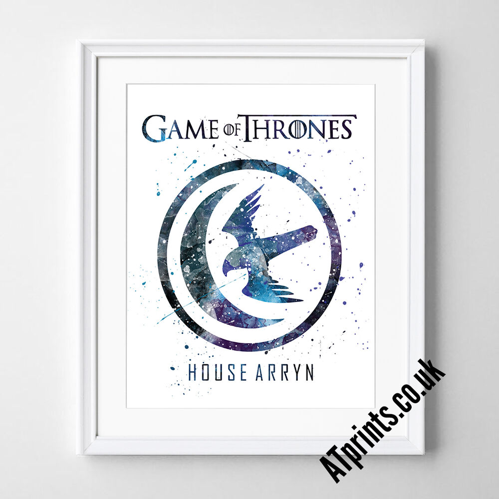 GAME OF THRONES Print Poster Watercolour Framed Canvas Wall Art ...