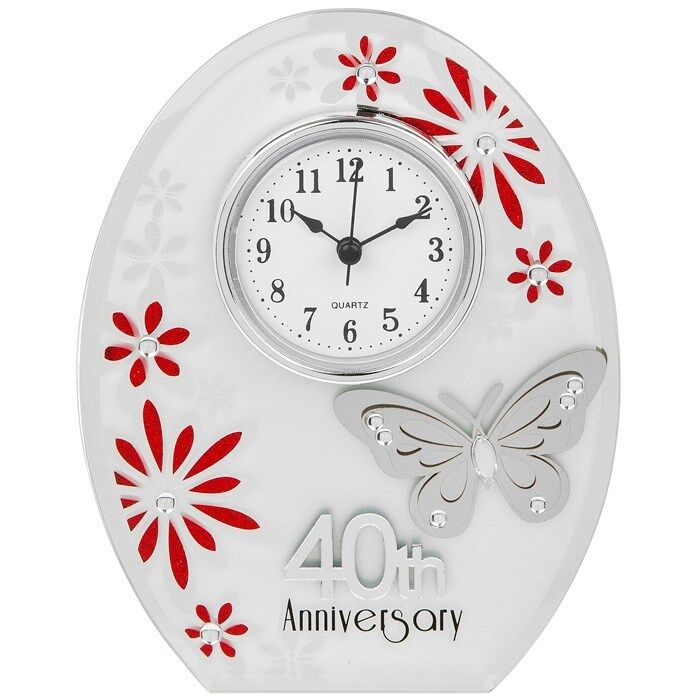 Ruby 40th Wedding Anniversary Gifts: New 40th Wedding Anniversary Clock 40 Years Of Marrage