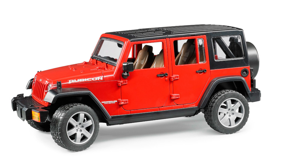 Jeep Wrangler Unlimited Rubicon Red Bruder Toy Car Model 1 ...