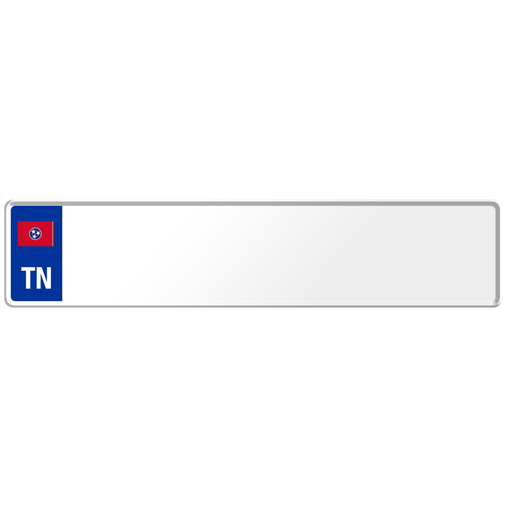 Tennessee US USA Euro European License Plate Number Plate Embossed ...