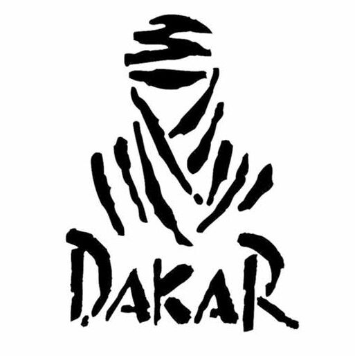 Dakar Logo Sticker Decal 170 X 100mm Black