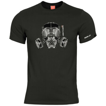 img-Pentagon Ageron Gas Mask T-Shirt Police Security Tactical Mens Cotton Top Black