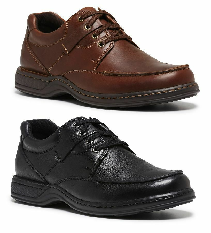 144674b0715b Mens HUSH PUPPIES RANDALL II EXTRA WIDE FORMAL DRESS WORK CASUAL LEATHER  SHOES