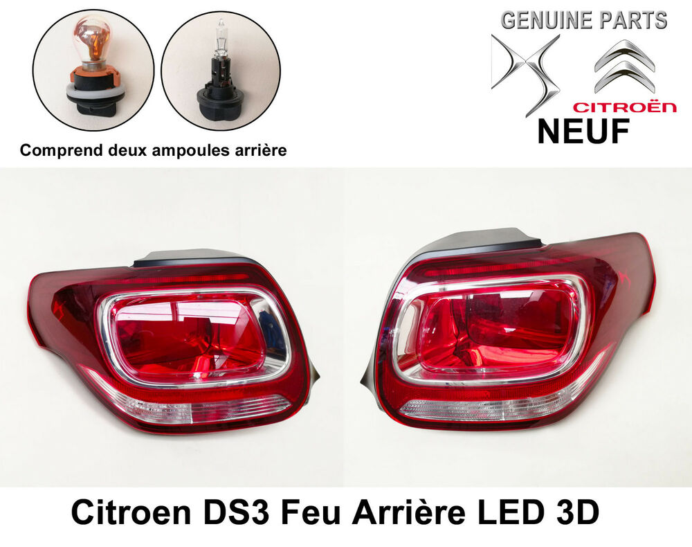 citroen ds3 feu arri re led 3d c t droit et gauche x 2 neuf 9800543280 ebay. Black Bedroom Furniture Sets. Home Design Ideas