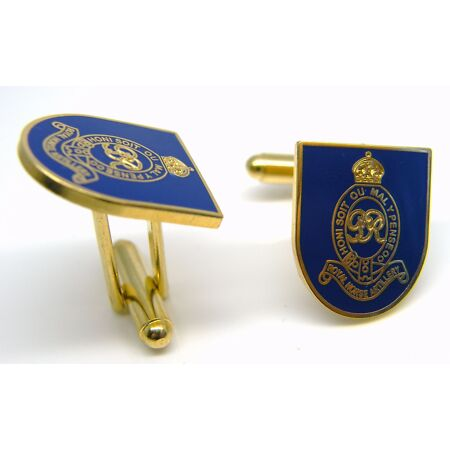 img-THE ROYAL HORSE ARTILLERY BADGE CUFFLINKS ARMY MILITARY ENAMEL GIFT IN BOX