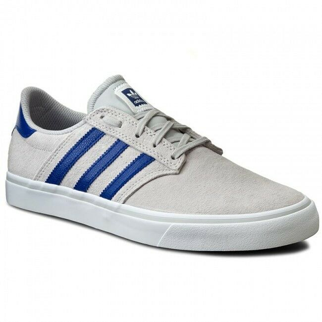 new concept d00f6 f3895 Details about Adidas Originals Seeley Premiere Light Grey Trainer