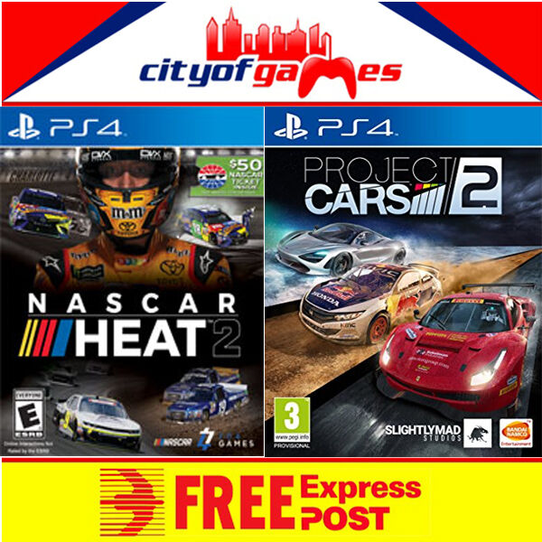 nascar heat 2 project cars 2 ps4 bundle new ebay. Black Bedroom Furniture Sets. Home Design Ideas
