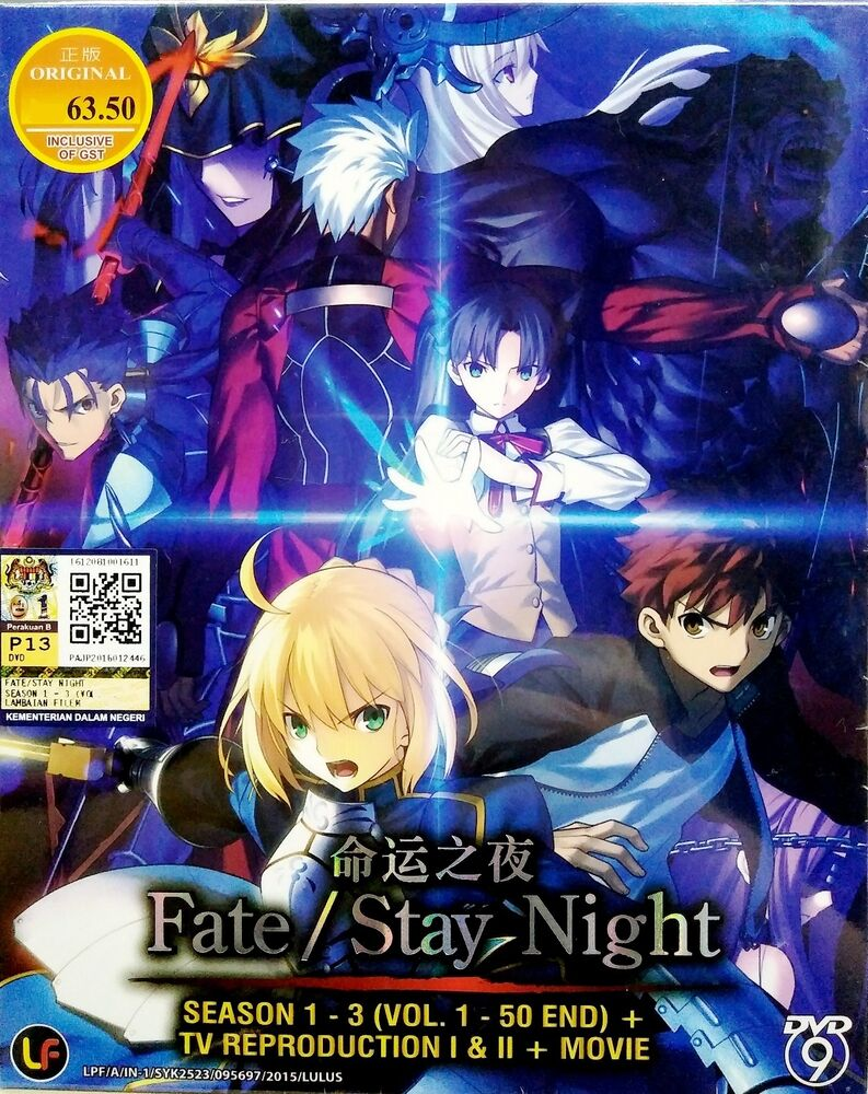 Details about fate stay night season 1 3 complete anime tv series dvd 1 50 eps