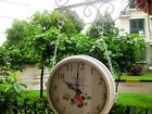 2709European Rural Wrought Iron Mute Living Room Double-Sided Wall Clock