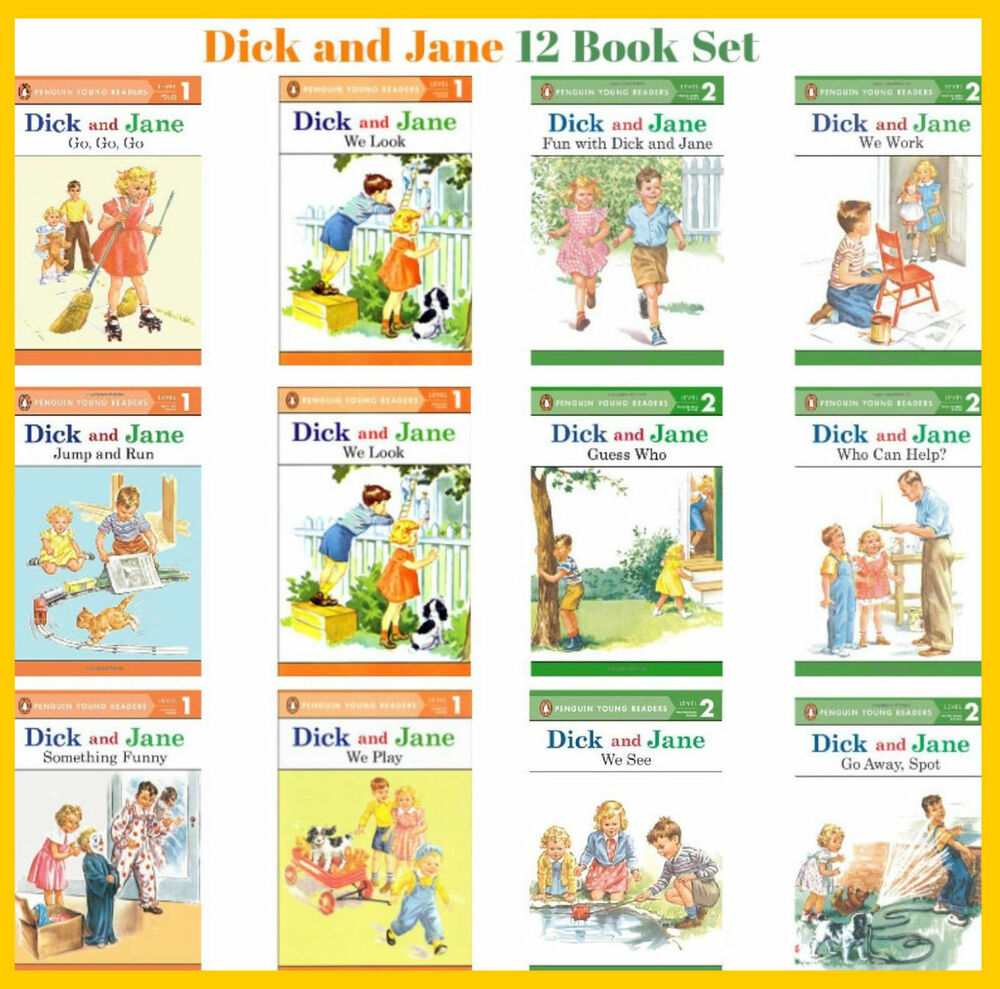 Details about Dick and Jane Readers Series Level 1 & 2 Collection Set 1-12  Ages 3-7 BRAND NEW