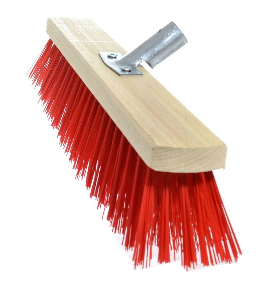 Heavy Duty Stiff Bristle Brush Broom Pvc 120cm Handle
