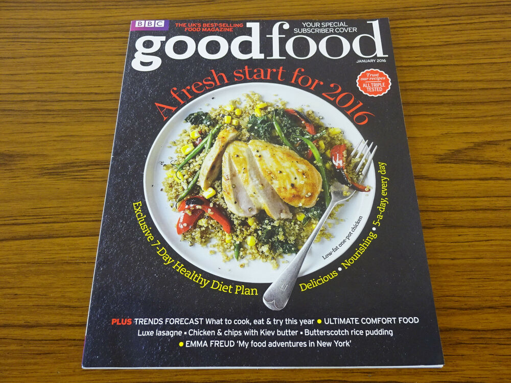 Bbc Good Food Magazine Jan 2016 Fresh Start To 2016 7 Day Healthy