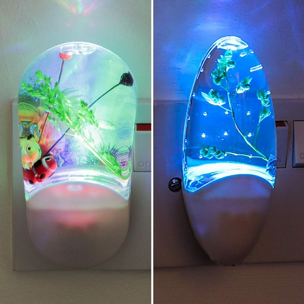 Plug In Colour Changing LED Night Light