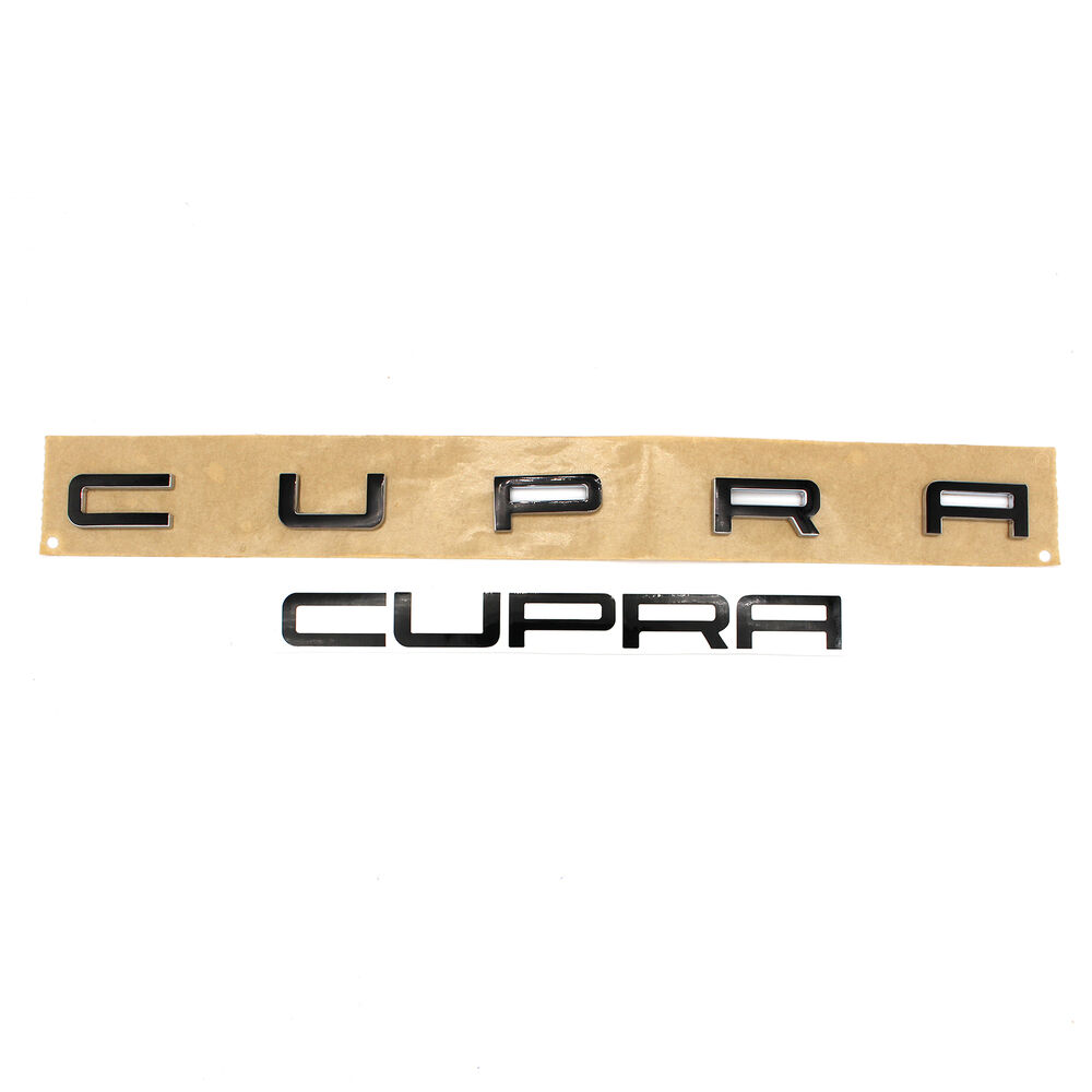 cupra emblem schriftzug schwarz glanz folie leon ibiza. Black Bedroom Furniture Sets. Home Design Ideas