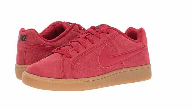 Men's Nike Court Royale Suede Sneaker Gym Red/Gym Red-Port Wine 819802 601