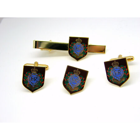 img-THE ROYAL ENGINEERS PRIVATE SAPPER MILITARY CUFFLINKS TIECLIP LAPEL BADGE GIFT