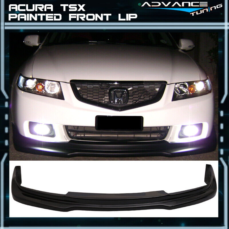 For 04-05 Acura TSX P1 Front Bumper Lip OEM Painted #B92P