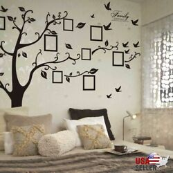 Kyпить Large Family Tree Wall Decal Sticker Removable Vinyl Photo Pictures Frame Black на еВаy.соm