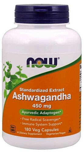 NOW FOODS - ASHWAGANDHA 450MG - 90 Veg Capsules - Stress Anxiety Fatigue Immune!