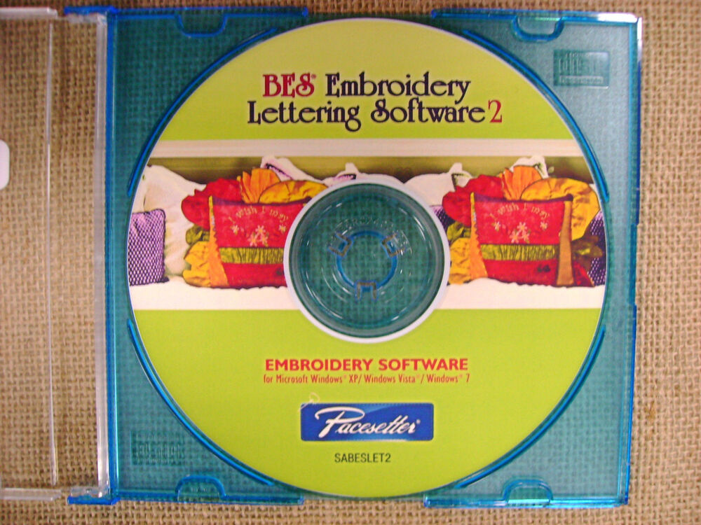 Brother Bes Embroidery Lettering Software 2 Full Version 12502559207