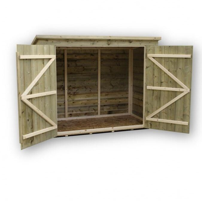 Bike store bike shed 6x4 shiplap pent tanalised pressure for Garden shed 7x4
