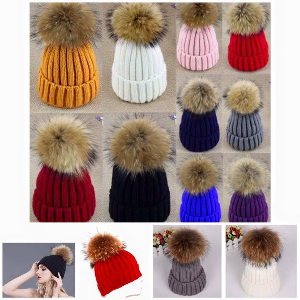 89129611f89 Details about Women LADIES WINTER HAT FUR CAP WARM POM POM KNITTED  DETACHABLE SKI HAT