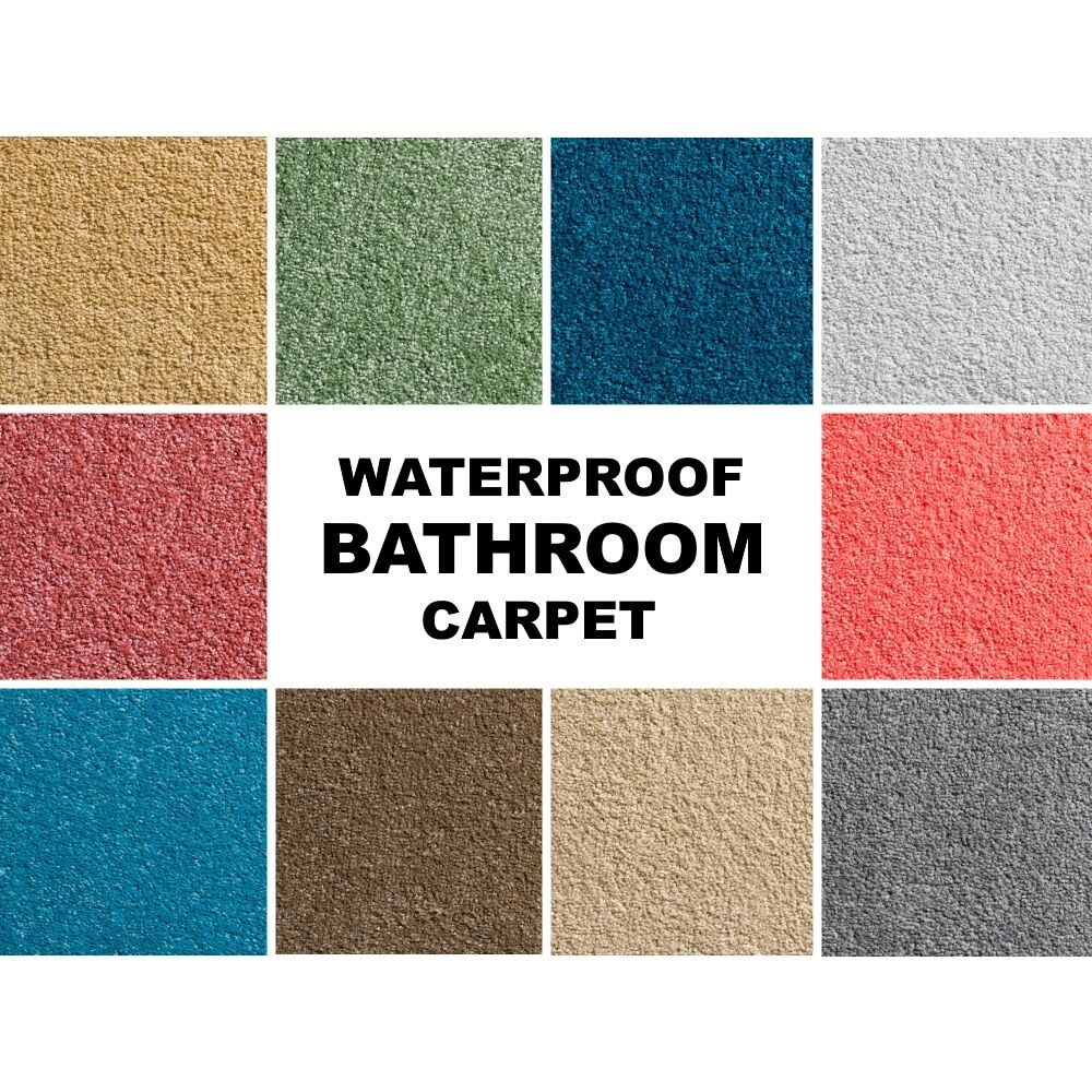 Carpet In A Bathroom: SAMPLE Waterproof BATHROOM Carpet Gel Waffle Back Soft