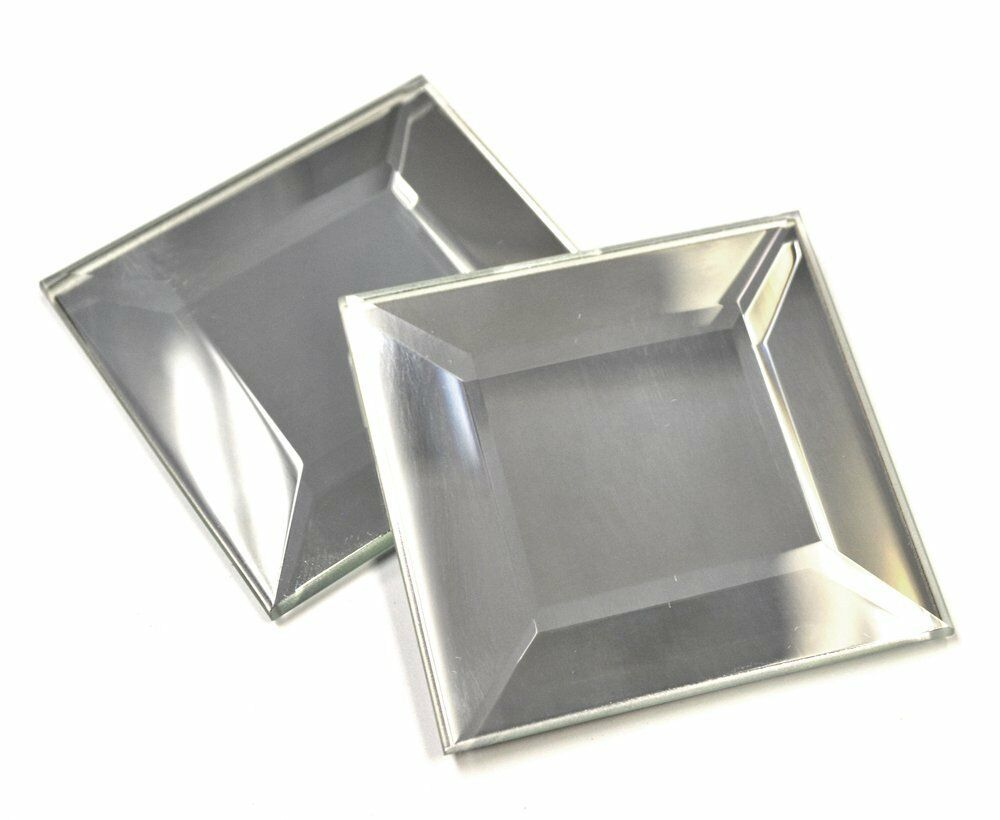 2 X2 Wide Beveled Mirror Decorative Tile Accent Piece Arts And Craft Backsplash