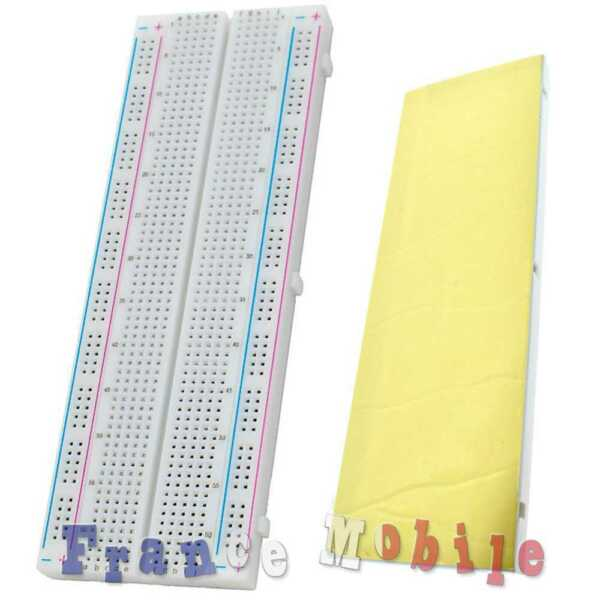 MB102 Breadboard 830 Experiment solderless breadboard avec du ruban adhésif New